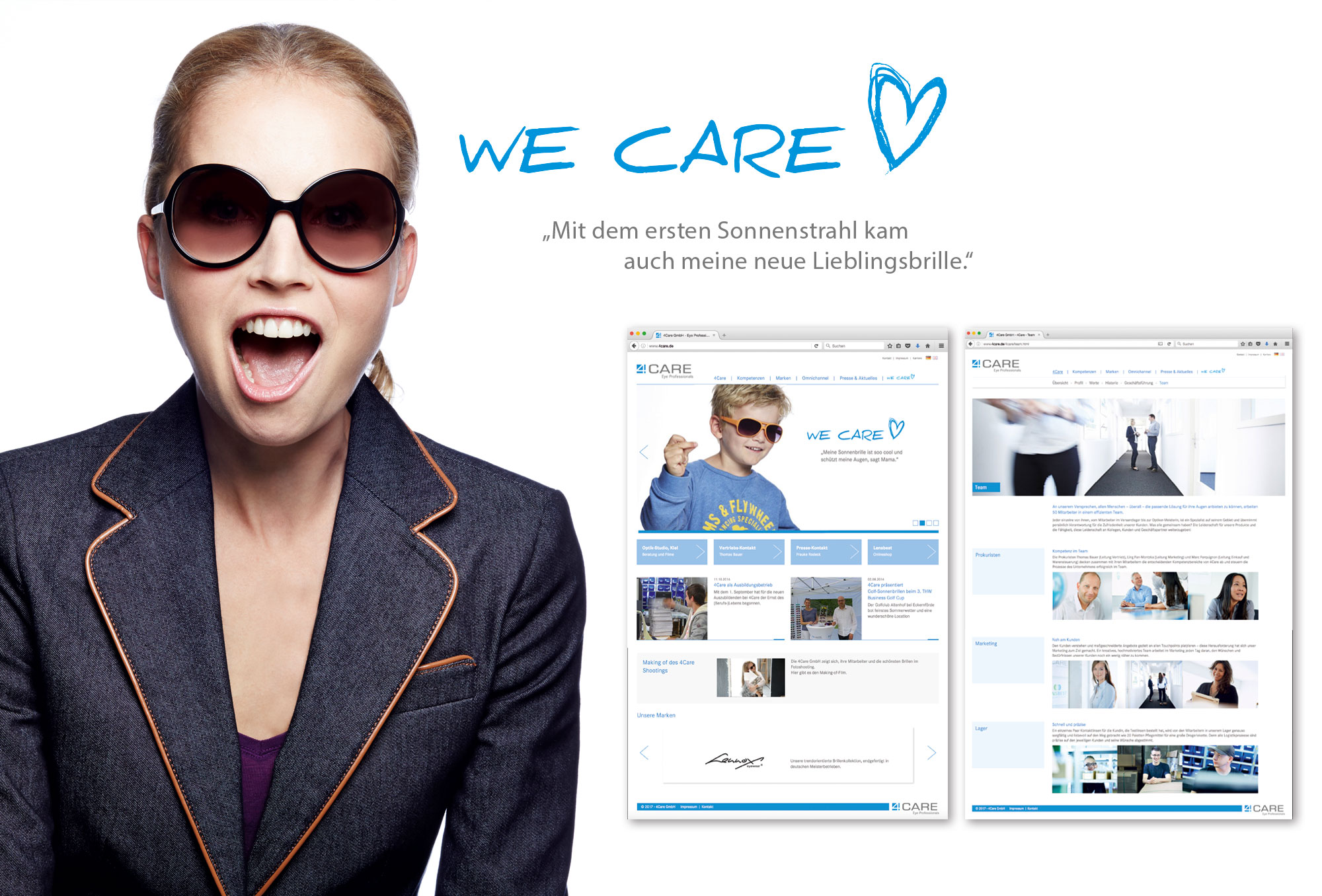 4CARE, Website, Kunde: Pioneer New Ground